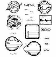 Inque Boutique - See D's  Unmounted Rubber Stamp Set  - Page Seals