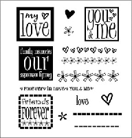 Inque Boutique - See D's  Unmounted Rubber Stamp Set by Stephani Barnard - Hip to be Square