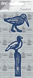 Joy Crafts - Cutting & Embossing Die - Noor! Seashore Seagull and Sandpiper