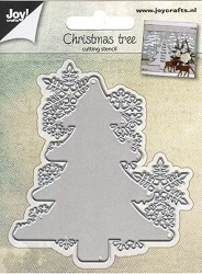 Joy Crafts - Cutting Die - Christmas Tree with Snowflake