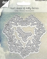 Joy Crafts - Cutting Die - Heart Shape of Holly Berries