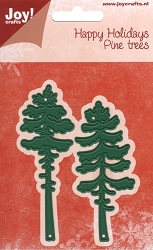 Joy Crafts - Cutting Die - Happy Holidays Pine Trees