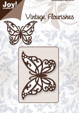 Joy crafts cutting die vintage flourishes butterfly for Joy craft flower dies