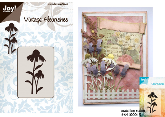 Joy crafts cutting die vintage flourishes cone flowers for Joy craft flower dies