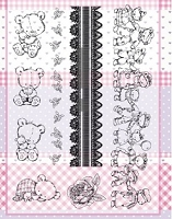 Joy Crafts - Clear Stamps - Cute Teddy Bears