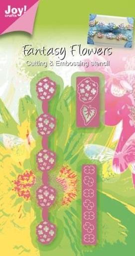 Joy crafts die fantasy flower border for Joy craft flower dies