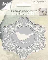 Joy Crafts - Cutting & Embossing Die - Endless Background with Bird