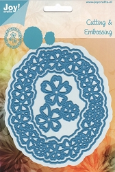 Joy Crafts - Cutting Die - Oval with Flowers Frame