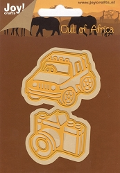 Joy Crafts - Cutting & Embossing Die - Out of Africa Jeep and Camera