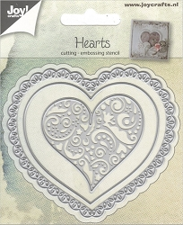 Joy Crafts - Cutting & Embossing Die - Hearts