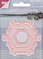 Joy Crafts - Cutting Die - Mery's Hexagonal Gracefully