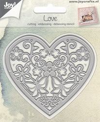 Joy Crafts - Cutting & Embossing Die - Love Heart with Flowers