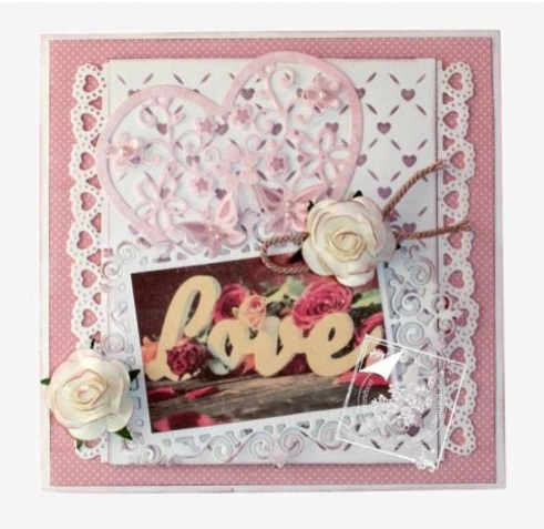 Joy crafts cutting embossing die love heart with flowers for Joy craft flower dies