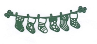 Joy Crafts - Cutting & Embossing Die - Happy Holidays Stockings