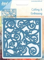 Joy Crafts - Cutting & Embossing Die - Swirl Background Square