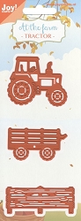 Joy Crafts - Cutting & Embossing Die - At the Farm Tractor and Fence