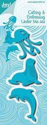 Joy Crafts - Cutting & Embossing Die - Under the Sea Seal, Dolphin, & Jellyfish