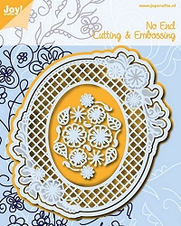 Joy Crafts - Cutting & Embossing Die - No End Flower Oval