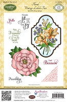 Just Rite - Cling Stamp Set - Floral Vintage Labels Two