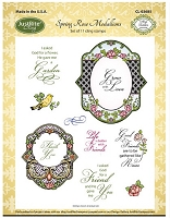 Just Rite - Cling Stamp -Spring Rose Medallions by Amy Teddler Designs