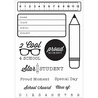 KaiserCraft - 2 Cool 4 School Collection - Clear Stamp