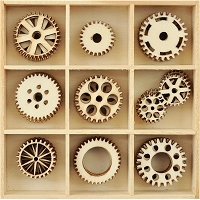 KaiserCraft - Barber Shoppe Collection - Cogs Wooden Shapes