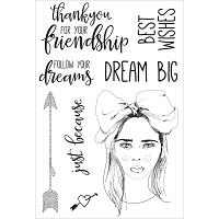 KaiserCraft - Boho Dreams Collection - Clear Stamp