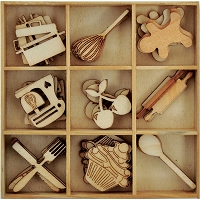 KaiserCraft - Bon Appetit Collection - Wooden Shapes
