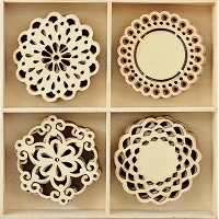 KaiserCraft - Christmas Wishes Collection - Doily Wooden Shapes