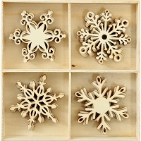 KaiserCraft - Frosted Collection - Snowflakes Wooden Shapes