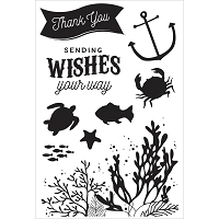 KaiserCraft - Mermaid Tails Collection - Clear Stamp