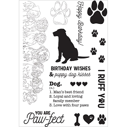 KaiserCraft - Pawfect Collection - Dog Clear Stamp