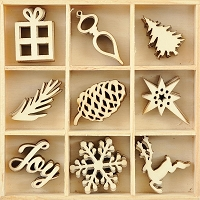 KaiserCraft - Silent Night Collection - Joy Wooden Shapes