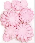 Kaiser-Mixed Flat Paper Flowers-Baby Pink