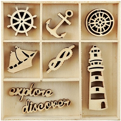 KaiserCraft - High Tide Collection - Nautical Wooden Shapes