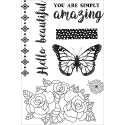 KaiserCraft - Indigo Skies Collection - Clear Stamp