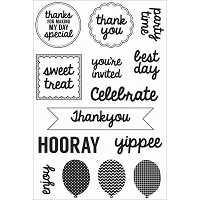 KaiserCraft - Pop! Collection - Treats Clear Stamp