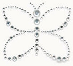 Kaiser-Rhinestone Picture-Butterfly-Silver