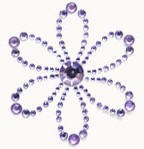 Kaiser-Rhinestone Picture-Blossom-Lilac