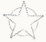 Kaiser-Rhinestone Picture-Sheriff's Star-Silver