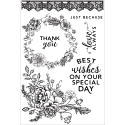 KaiserCraft - Sage and Grace Collection - Clear Stamp