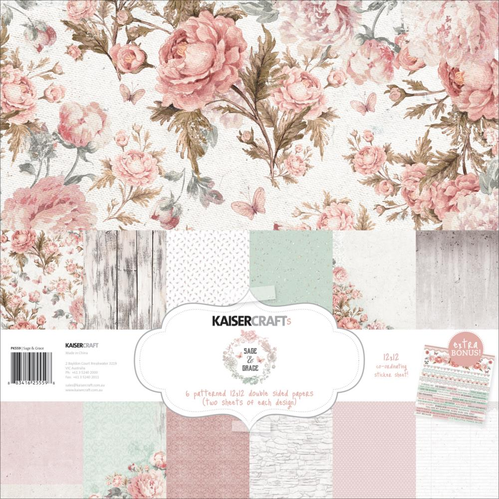 Scrapbook paper collections - Sage And Grace Collection