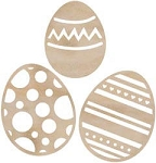 Kaiser wood flourish - Easter Eggs