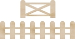 Kaiser Craft - Wood Embellishments - Fence & Gate