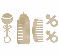 KaiserCraft - Wood Flourishes - Baby Pack