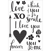 KaiserCraft - XO Collection - Quotes Clear Stamp