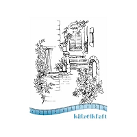 Katzelkraft - A6 Unmounted Rubber Stamp Sheet - Le Jardin (The Garden) (4.25
