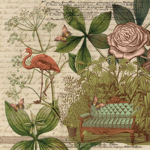 K Co Engraved Garden Paper Sofa