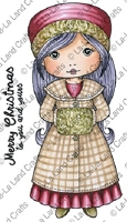 La-La Land Crafts - Rubber Cling Stamp - Winter Coat Molli