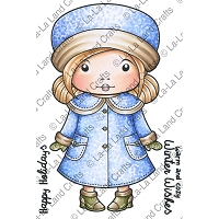 La-La Land Crafts - Rubber Cling Stamp - Winter Coat Marci